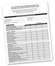 Model Evaluation Form